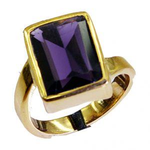 Buy Riyo Amethyst Cz 18.kt Gold Plated Nice Ring Sz 7 Gpramcz7-88010 online