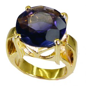 Buy Riyo Amethyst Cz 18c Gold Polish Mothers Ring Sz 7 Gpramcz7-88021 online