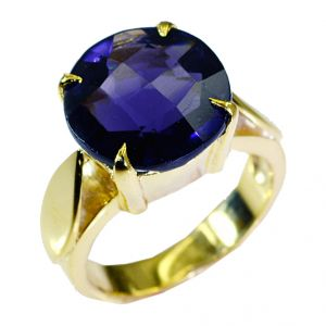 Buy Riyo Amethyst Cz 18k Gold Plating Regards Ring Jewelry Sz 8 Gpramcz8-88023 online