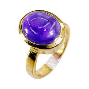Buy Riyo Amethyst 18c Gold Plating Thumb Ring Sz 5.5 Gprame5.5-2003 online