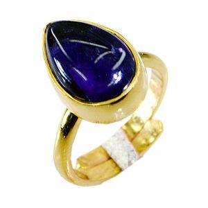 Buy Riyo Amethyst 18 Kt Y.g. Plated Cocktail Ring Sz 6 Gprame6-2014 online