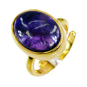 Buy Riyo Amethyst 18 Ct Y.g. Plated Friendship Ring Sz 6.5 Gprame6.5-2026 online