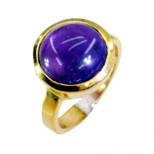 Buy Riyo Amethyst 18k Y Gold Plating Gimmal Ring Sz 6.5 Gprame6.5-2027 online