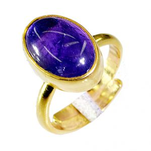 Buy Riyo Amethyst Gold Plated Costume Rosary Ring Jewelry Sz 7 Gprame7-2032 online