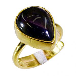 Buy Riyo Amethyst Gold Plated Fashion Signet Ring Jewelry Sz 7 Gprame7-2033 online