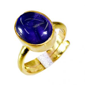 Buy Riyo Amethyst Gold Plated Jewelry Sports Ring Sz 7 Gprame7-2035 online