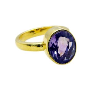 Buy Riyo Amethyst Gold Plated Set Claddagh Ring Sz 7 Gprame7-2054 online