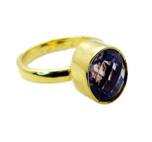 Buy Riyo Amethyst Fine Gold Plated Friendship Ring Sz 9 Gprame9-2059 online