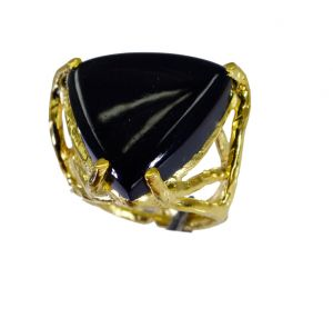 Buy Riyo Black Onyx Wholesale Gold Plate Promise Ring Sz 5.5 Gprbon5.5-6059 online