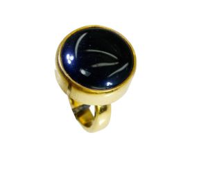 Buy Riyo Black Onyx Gold Plate Sovereign Ring Sz 6 Gprbon6-6051 online