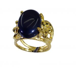 Buy Riyo Black Onyx 18c Gold Polish Friendship Ring Sz 6 Gprbon6-6076 online