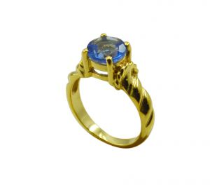 Buy Riyo A Blue Saphire Cz 18kt Gold Plated Original Ring Gprbscz60-90032 online