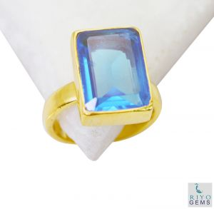 Buy Riyo Blue Topaz Cz Wholesale Gold Plated Ring Jewelry Sz 6 Gprbtcz6-92041 online