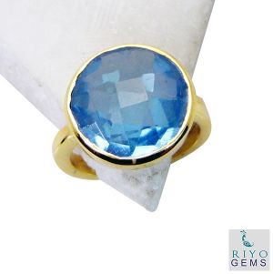 Buy Riyo Blue Topaz Cz Gold Plate Jewelry Birthstones Ring Sz 6 Gprbtcz6-92042 online