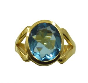 Buy Riyo A Blue Topaz Cz 18kt Gold Plated Sparkly Ring Gprbtcz65-92124 online