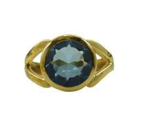 Buy Riyo A Blue Topaz Cz 18kt Gold Plated Sporty Ring Gprbtcz65-92131 online