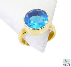 Buy Riyo Blue Topaz Cz Gold Plated Fashion Toe Ring Jewelry Sz 7 Gprbtcz7-92048 online
