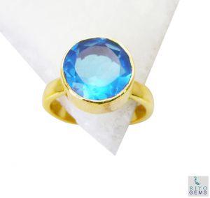 Buy Riyo Blue Topaz Cz Gold Plated Online Cameo Ring Sz 8 Gprbtcz8-92053 online