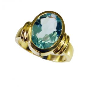 Buy Riyo Blue Topaz Cz Base Matel Y Gold Thumb Ring Sz 8.5 Gprbtcz8.5-92072 online