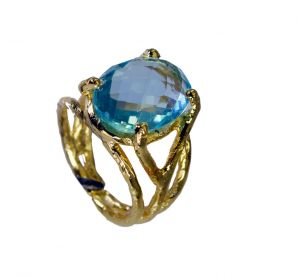 Buy Riyo Blue Topaz 18 Kt Y Gold Plating Toe Ring Jewelry Sz 5.5 Gprbto5.5-10006 online