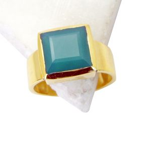 Buy Riyo Green Onyx 18.kt Gold Plated Class Ring Sz 8.5 Gprgon8.5-30051 online
