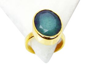 Buy Riyo Indi Emerald 18kt Gold Plated Finger Armor Ring Sz 8 Gpriem8-32016 online