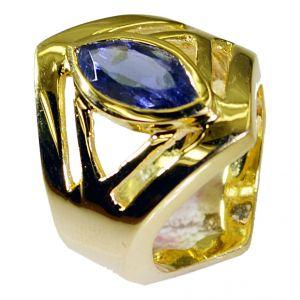 Buy Riyo Iolite 18.kt Base Matel Promise Ring Sz 8 Gpriol8-38003 online