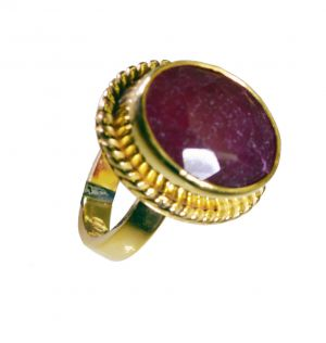 Buy Riyo Indi Ruby Gold Plated Wholesale Regards Ring Jewelry Sz 6.5 Gpriru6.5-34053 online