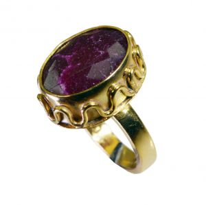 Buy Riyo Indi Ruby 18c Gold Plating Friendship Ring Sz 7 Gpriru7-34081 online