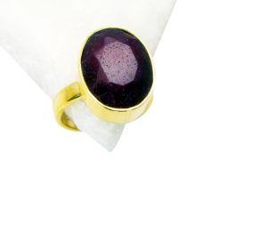 Buy Riyo Indi Ruby Wholesale Gold Plated Aqiq Ring Sz 8 Gpriru8-34036 online