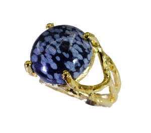 Buy Riyo Jasper Gold Plated Mori Ring Sz 5 Gprjas5-40005 online