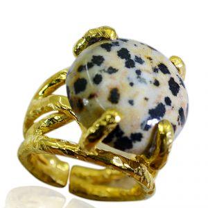Buy Riyo Jasper 18 Kt Gold Plated Bridal Rings Sz 6 Gprjas6-40003 online