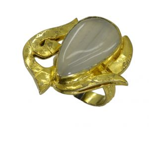 Buy Riyo Jasper 18kt Gold Plated Half Priced Ring Gprjas80-40022 online