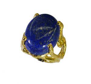 Buy Riyo Lapis Lazuli Cheap Gold Plated Thumb Ring Sz 4 Gprlla4-44077 online