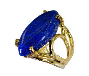 Buy Riyo Lapis Lazuli 18 Ct Gold Plated Promise Ring Sz 5 Gprlla5-44050 online