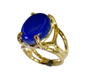 Buy Riyo Lapis Lazuli 18k Y Gold Plate Purity Ring Jewelry Sz 5 Gprlla5-44051 online