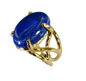 Buy Riyo Lapis Lazuli Rhodium Plate Bridal Rings Sz 5 Gprlla5-44054 online