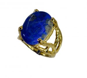 Buy Riyo Lapis Lazuli Gold Plate Purity Ring Jewelry Sz 6 Gprlla6-44084 online