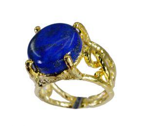 Buy Riyo Lapis Lazuli Gold Plated Posie Ring Sz 7 Gprlla7-44071 online