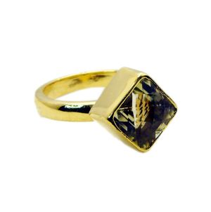 Buy Riyo Lemon Quartz Gold Plated Designs Class Ring Sz 7 Gprlqu7-46007 online