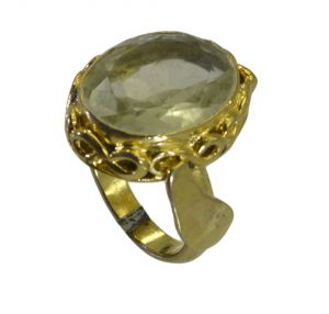 Buy Riyo A Lemon Quartz 18kt Gold Plated Flirty Ring Gprlqu75-46020 online