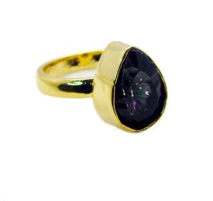 Buy Riyo Mystic Quartz 18 C Gold Plated Signet Ring Jewelry Sz 8 Gprmqu8-54004 online