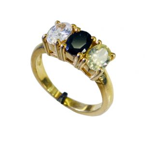 Buy Riyo Cz Gold Plate Class Ring Sz 7 Gprmucz7-116047 online