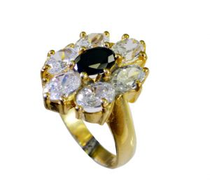 Buy Riyo Cz Wholesale Gold Plated Engagement Ring Sz 7 Gprmucz7-116050 online