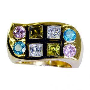 Buy Riyo Cz 18c Gold Plating Aqiq Ring Sz 8 Gprmucz8-116012 online
