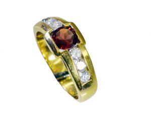 Buy Riyo Cz 18.kt Base Matel Thumb Ring Sz 8 Gprmucz8-116028 online