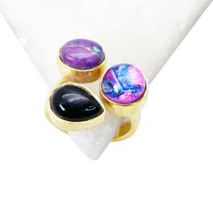 Buy Riyo Black Onyx Gold Polish Regards Ring Jewelry Sz 6 Gprmul6-52026 online
