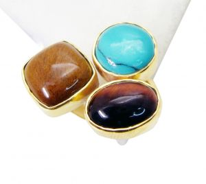 Buy Riyo Tiger Eye Gold Plated Jewelry Class Ring Sz 7 Gprmul7-52075 online