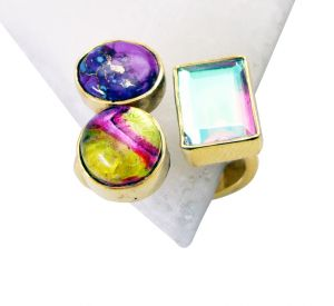Buy Riyo Turquoise Gold Plated India Classic Day Rings Sz 7 Gprmul7-52076 online