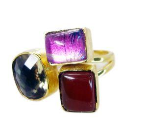 Buy Riyo Red Onyx Gold Plated Designs Wedding Bands Sz 8 Gprmul8-53001 online
